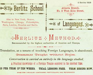 Learn a language in natural way with the Berlitz Method®